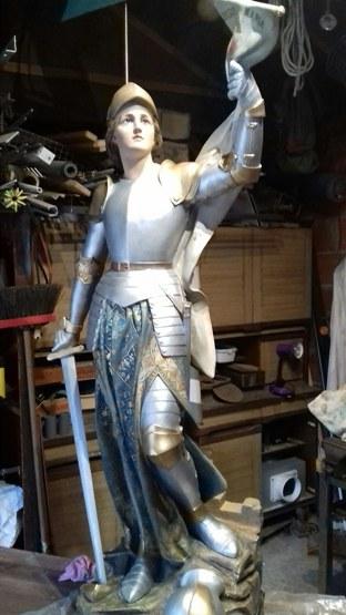 Jeanne d'Arc - Réparation dans l'atelierde Bernard