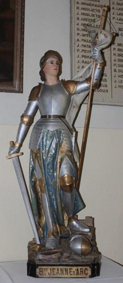 Jeanne d'Arc - statue après restauration
