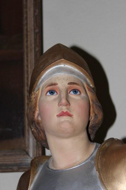 Jeanne d'Arc - visage après restauration